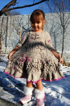 Рябина на снегу. Платье от Kenzo