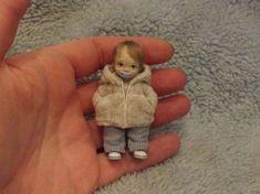Miniature Handmade Mini Baby Boy Toddler OOAK Art Doll House Artist Dollhouse | eBay