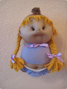 Cute dolls, how to make from nylon stockings and socks, Russian site