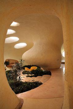The Nautilus House by Javier Senosiain - The Foyer