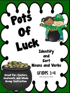 St. Patrick's Day - Sorting Nouns And Verbs
