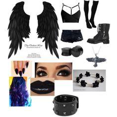 My fallen angel Halloween costume