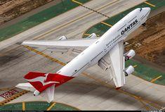 Qantas Boeing 747-438/ER at LAX ~ photo by Sebastian Lewandowski