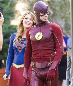 Can't wait. #Flash #Supergirl #WorldsFinest #Crossover #TeamUp #BarryAllen #GrantGustin #MelissaBenoist