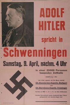 """""""Adolf Hitler ... spricht in Schwenningen"""" (NSDAP)"""