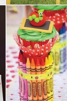 Crayon centerpieces