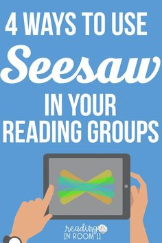 Seesaw is an amazing tool for both teachers and students. One of the great things about Seesaw is that you don't always have to have all of these activities pre-planned; students can take and add their own pictures/videos. Small Group Reading, Guided Reading Groups, Reading Lessons, Reading Resources, Teaching Reading, Reading Group Activities, Reading Intervention Activities, Literacy Strategies, Literacy Games