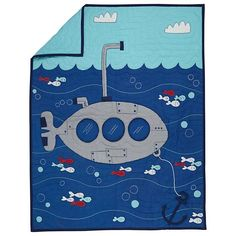 20,00 Leagues Submarine Kids Bedding | The Land of Nod
