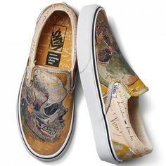 58475f4604fd Vans está lançando uma linha inspirada no artista Van Gogh Custom Slip On  Vans