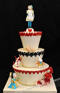 Alice in Wonderland Cake ~ by Design Cakes - Christine Pereira [1st of two pins]