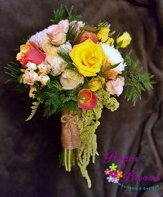 Roses, Spray Roses & Amaranthus