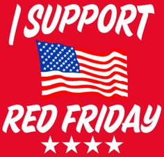 Buy a t-shirt to support Red Friday Tee. Please share!