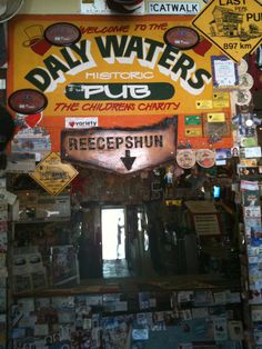 Daly Waters Pub (NT, Australia) is an iconic pub about from Darwin, in the middle of nowhere. Outback Australia, South Australia, Western Australia, Australia Travel, Darwin Australia, Travel Tours, Us Travel, Restaurants, Travel Party