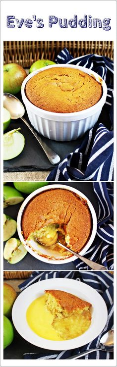 Eve's Pudding - a delicious combination of apples and sponge, the ultimate comfort pud! Fab Food 4 All