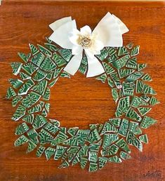Holiday Mosaic Wreath-Let me make one for you! Mosaic Art Projects, Mosaic Crafts, Mosaic Ideas, Fused Glass Art, Mosaic Glass, Broken China Crafts, Christmas Mosaics, Mosaic Garden Art, Mosaic Supplies