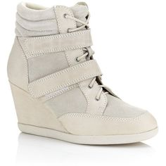 Carvela Kurt Geiger Sparkle Wedge Sneaker found on Polyvore