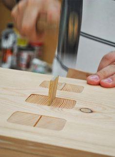assemblage à clé bois
