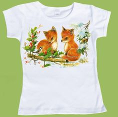 Fox pups Winter Foxes One Piece BabyTank or by ChiTownBoutique