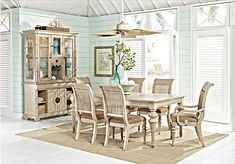 Cindy Crawford Home Key West Sand 5 Pc Rectangle Dining Room withSlat Chairs. $999.99.  Find affordable Dining Room Sets for your…