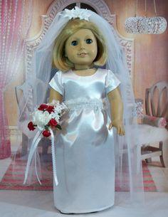 Wedding/ Bridal Gown 18 inch doll wedding von ElegantDollFashions