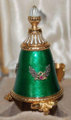 Russian enamel perfume bottle.