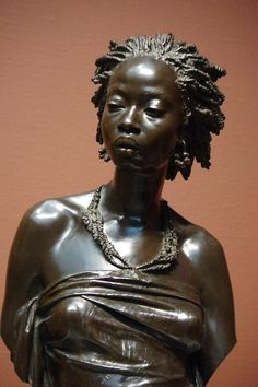 Bust of an African Woman by Charles-Henri-Joseph Cordier (1827-1905)