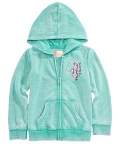 Roxy Full-Zip Hoodie, Toddler Girls (2T-5T) - Blue 2