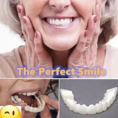 Each person on this planet owns a different set of teeth, that is why we will introduce you to a product that can give that IDEAL SMILE to every person, regardless what kind of teeth they have. Introducing the PERFECT SMILE SNAP ON BRACES. Perfect Teeth, Perfect Smile, Smile Teeth, Teeth Care, Snap On Smile, Veneers Teeth, Tooth Sensitivity, Teeth Braces, Teeth Bleaching