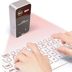 KSRplayer New Laser Projection Virtual Keyboard with Wireless Bluetooth for IOS Apple Mac Ipad Iphone Android Cell Phone Tablet PcSilver -- To view further for this item, visit the image link.