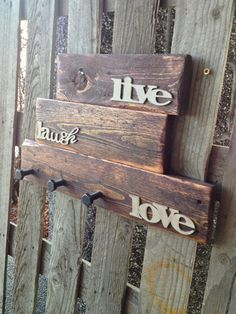 Rustic pallet wood wall organizer coat rack with by RusticGateHome