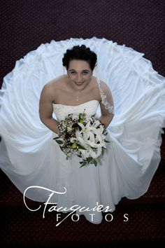 Fauquier Fotos | Warrenton, VA | Posts, bridal dress, pose, wedding photography, flowers, bridal portraits/angle from above