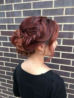 messy braided updo | hair by goldplaited | prom hairstyles #promhair