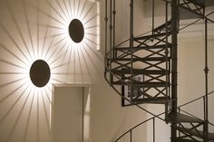 The Meridiano wall sconces cast a beautiful game of light and shadow at Argegarten showroom in Austria #interiordesign #lightingdesign   http://www.vibia.com/en/meridiano-outdoor-lighting/?utm_source=&utm_medium=pinterest&utm_campaign=mer_argegarten_prj&utm_content=pint_pubutm_term=