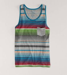AE Striped Tank  Guy tanks are loose and relaxed