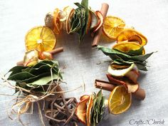 Dried fruit garland how-to