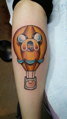 Traditional adventure time tattoo