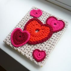 The Kat's Scratch Pad: Crochet Valentine's Day Card