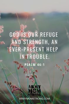 Prayer for our military: God is our refuge and strength, an ever-present help in trouble. Biblical Verses, Scripture Verses, Bible Verses Quotes, Bible Scriptures, Faith Quotes, Mom Prayers, Bible Prayers, Spiritual Religion, Spiritual Quotes