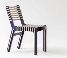 "Aus Holz ""gewebte""  Stuhlserie von Earl Pinto"