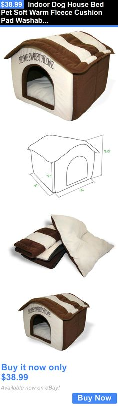 Animals Dog: Indoor Dog House Bed Pet Soft Warm Fleece Cushion Pad Washable Cat Cozy Home New BUY IT NOW ONLY: $38.99 Indoor Dog House Bed, Pet Beds, Dog Bed, Online Pet Store, Animals Dog, Cushion Pads, Cat Furniture, Baby Dogs, Dog Houses