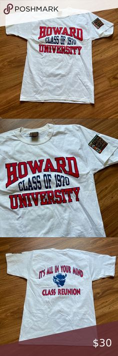 Howard University Bisons NCAA Cotton College Logo Licensed Tee T-Shirt S 2XL