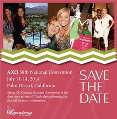Alpha Chi Omega 58th National Convention!! I made it onto the the save the date!!