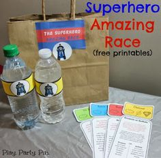 The best superhero party race, a superhero amazing race complete with free printable Amazing race clues, clue envelopes, and even blank clues! Group Games For Kids, Games For Teens, Adult Games, Best Superhero, Superhero Party, Batman Party, Race Clues, Work Christmas Party Games, Amazing Race Challenges