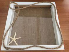 Κάδρο ευχών γάμου με θαλασσινό θέμα... Tray, Decor, Decoration, Trays, Decorating, Board, Deco
