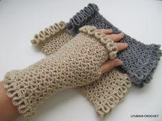 Tutorial Crochet Pattern Fingerless Gloves With by LyubavaCrochet
