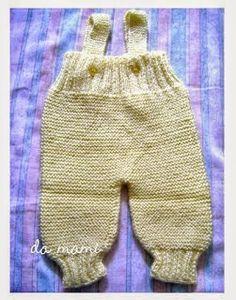 Receita de Tricô: Jardineira em tricô