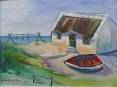 Image result for painting fisherman's cottage cape Fishermans Cottage, Pen And Wash, Oil Paintings, Cottages, Beaches, Cape, Houses, Ceramics, Watercolor
