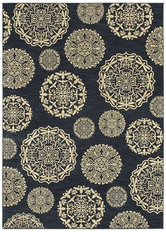"Area rug in style ""Queen Anne's Lace"" color Navy - by Shaw Floors"