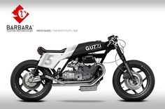 "Moto Guzzi Cafe Racer Design ""The Right stuff"" #26 by Barbara Custom Motorcycles #motorcycles #caferacer #motos 