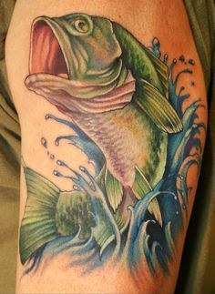 Bass fish tattoo....